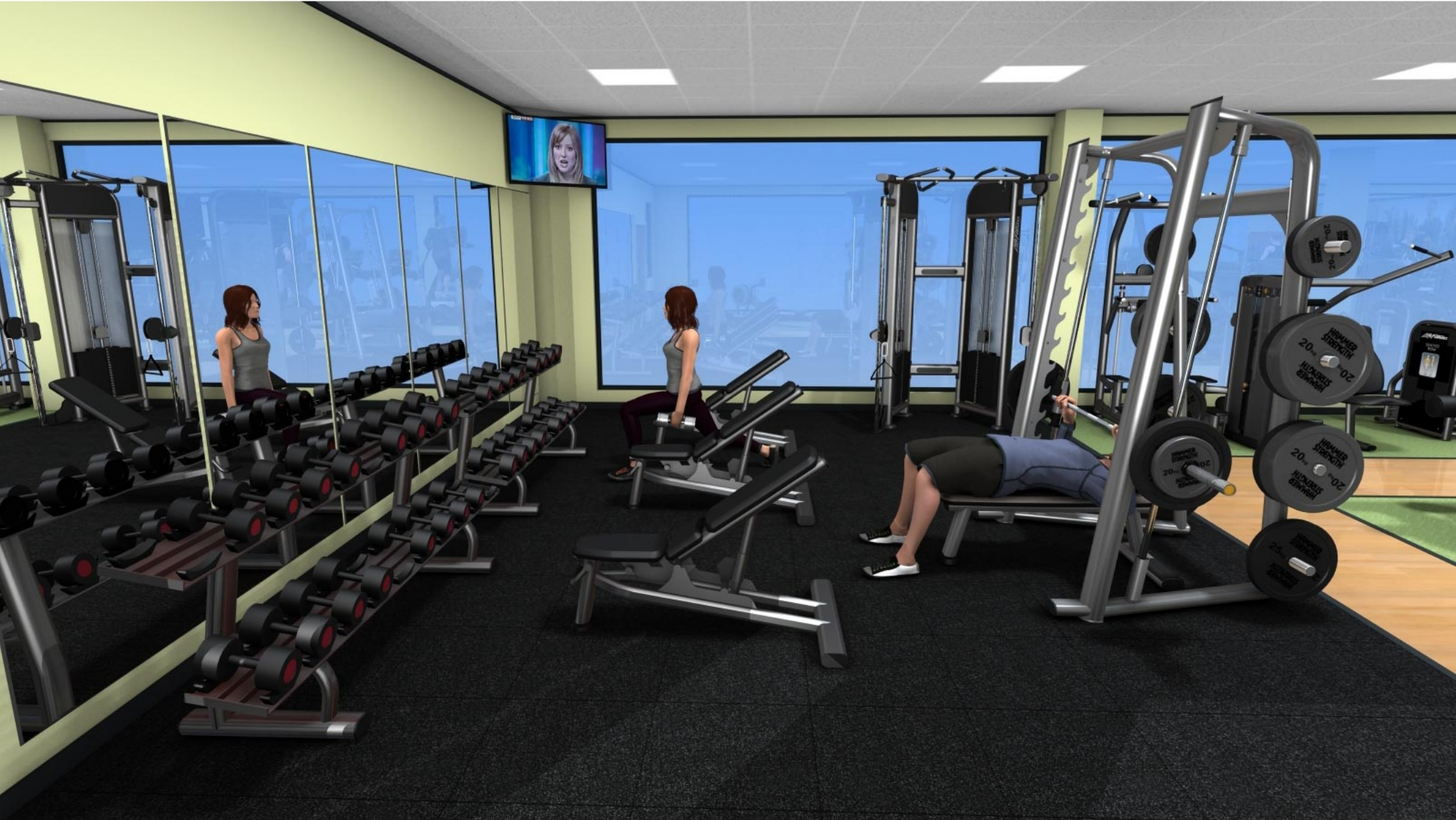 New Gym At Tadley Health Fitness Centre